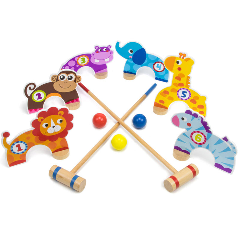 Jungle Croquet, Wooden Game for Kids