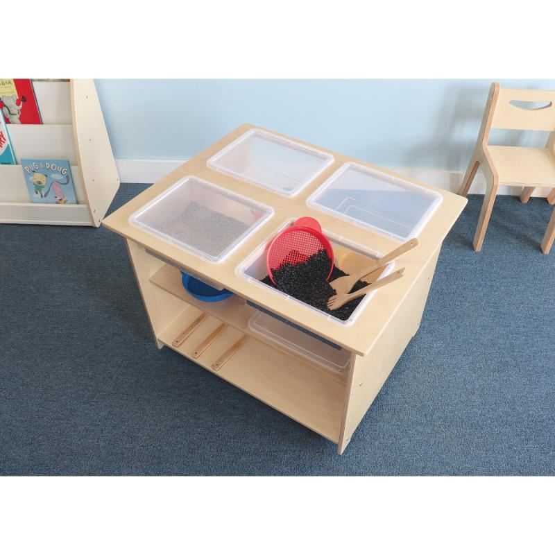 Mobile Sensory Table With Trays and Lids - WB1775
