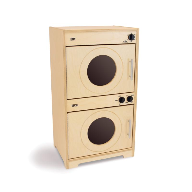 Contemporary Washer and Dryer: Natural - WB6450N