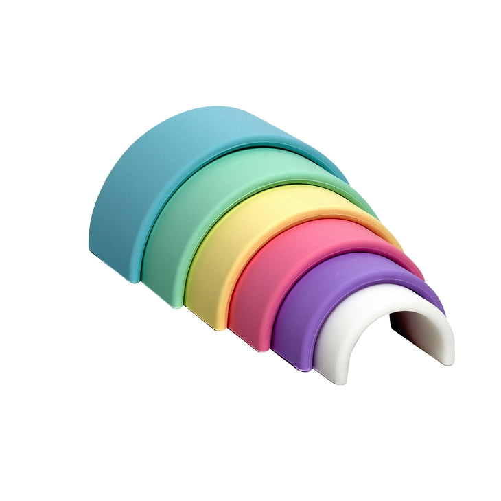 Pastel Silicone Stacker, Small
