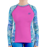 Plus Size Mermaid Camo Rashguard