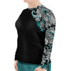 Plus Size Electric Blue Octofloral Rashguard