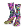 Octofloral Splatterparty Dive Socks