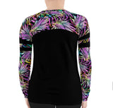 Plus Size Black Lionfish Roar Rashguard