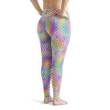 Plus Size Psychedelic Mermaid Leggings