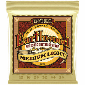 Ernie Ball 2003 Earthwood Med/Light Set