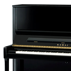 Kawai K600-AS Upright Piano; Polished Ebony