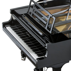 Feurich Concert I 218 Grand Piano; Black Polished with Chrome Fittings