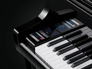Kawai K600 Aures Hybrid Upright Piano; Polished Ebony
