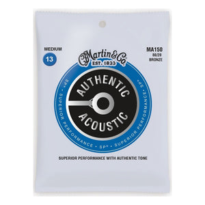 Martin MA150 Authentic Acoustic SP 80/20 Bronze Medium Guitar Strings