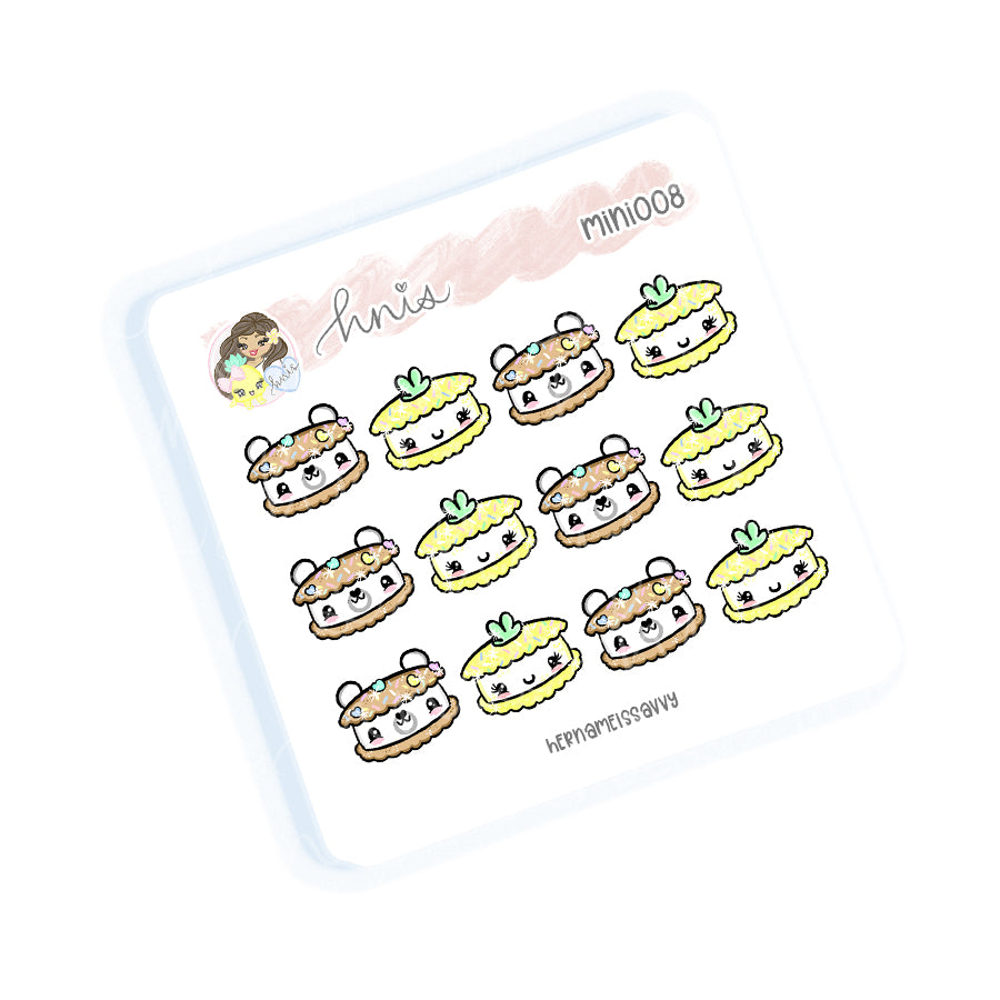 MINI008 - Piha + Bear Icecream Sandwiches Sticker Sheet