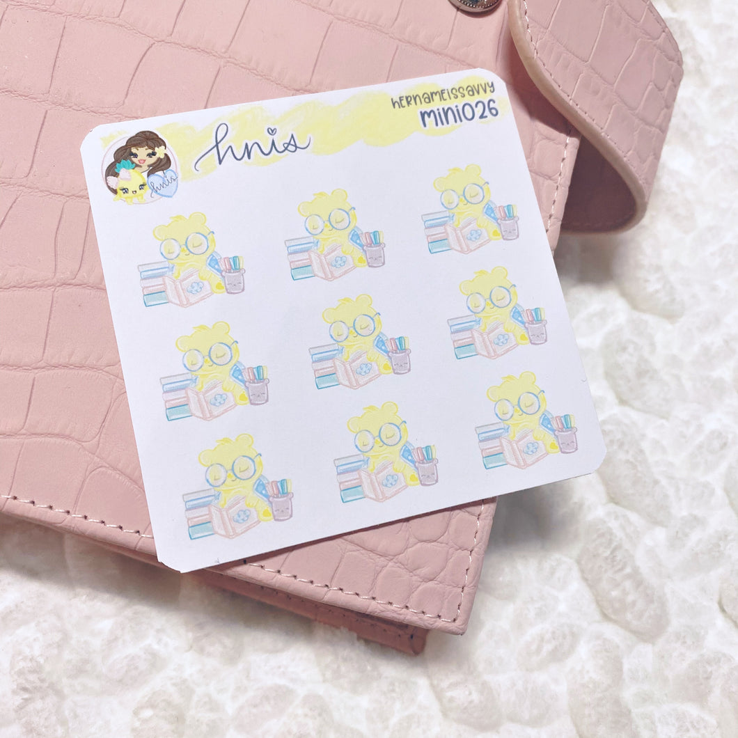 MINI026 - Journaling Bear Sticker Sheet