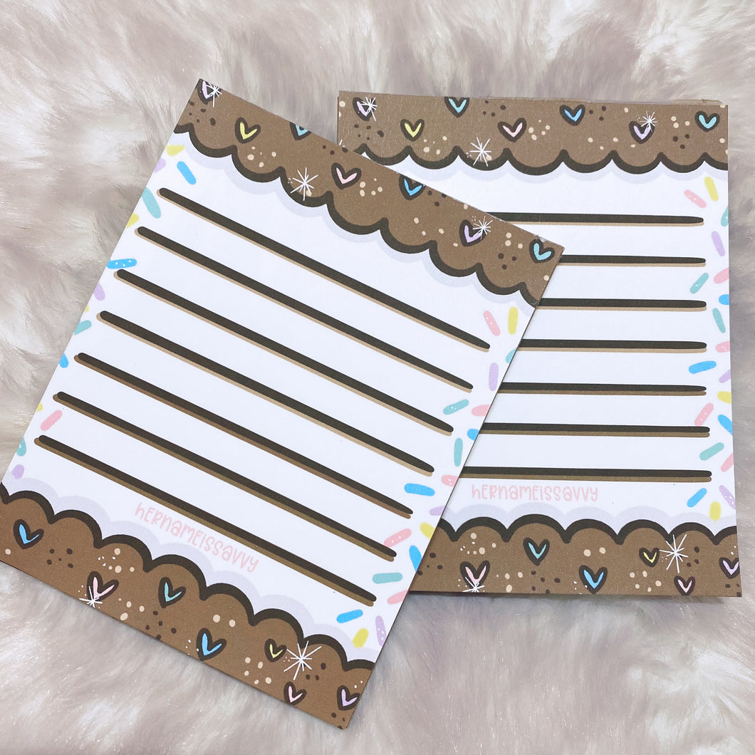 Cookies + IceCream Memo Pad - 20 Sheets