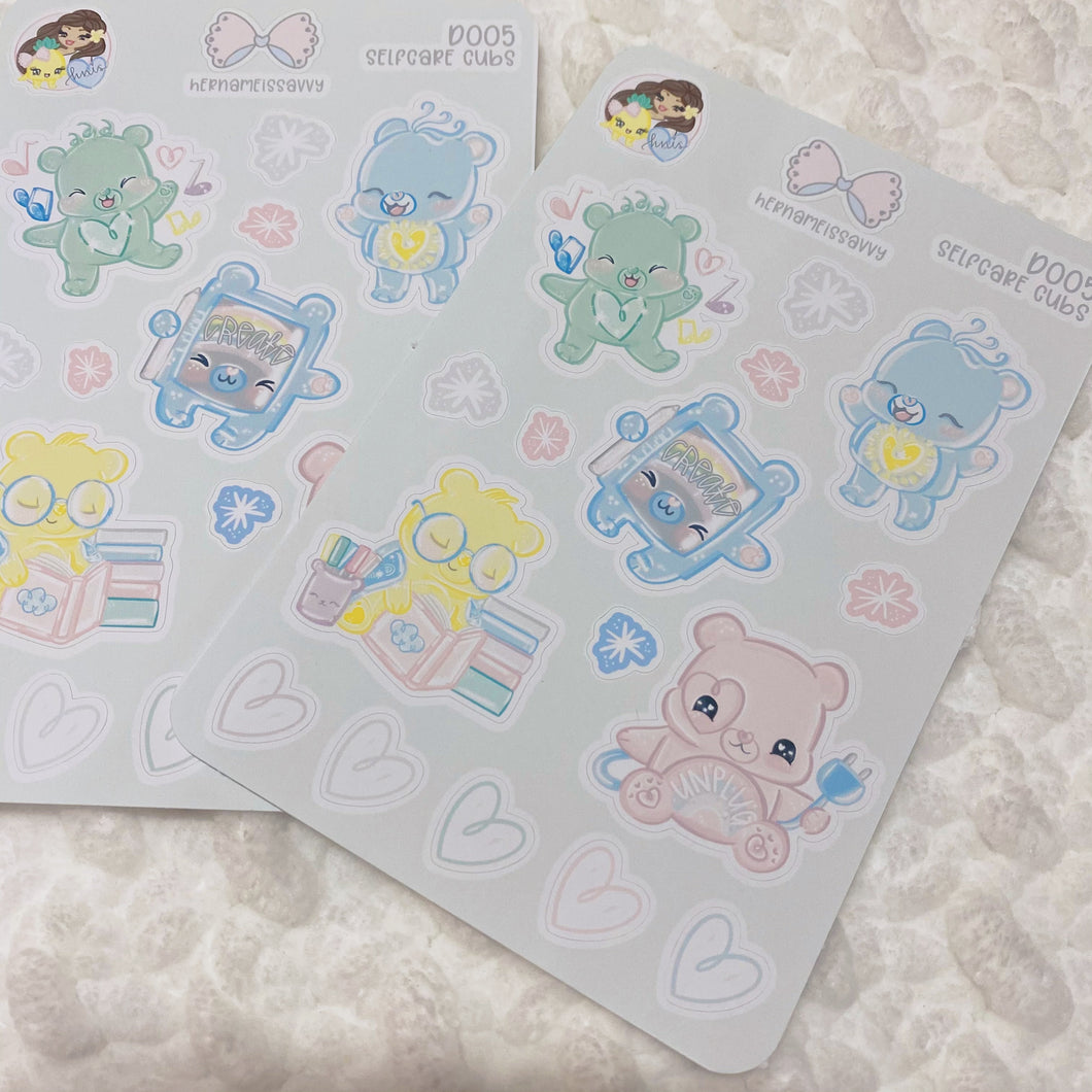 SelfCare Cubs Deco Sticker Sheet