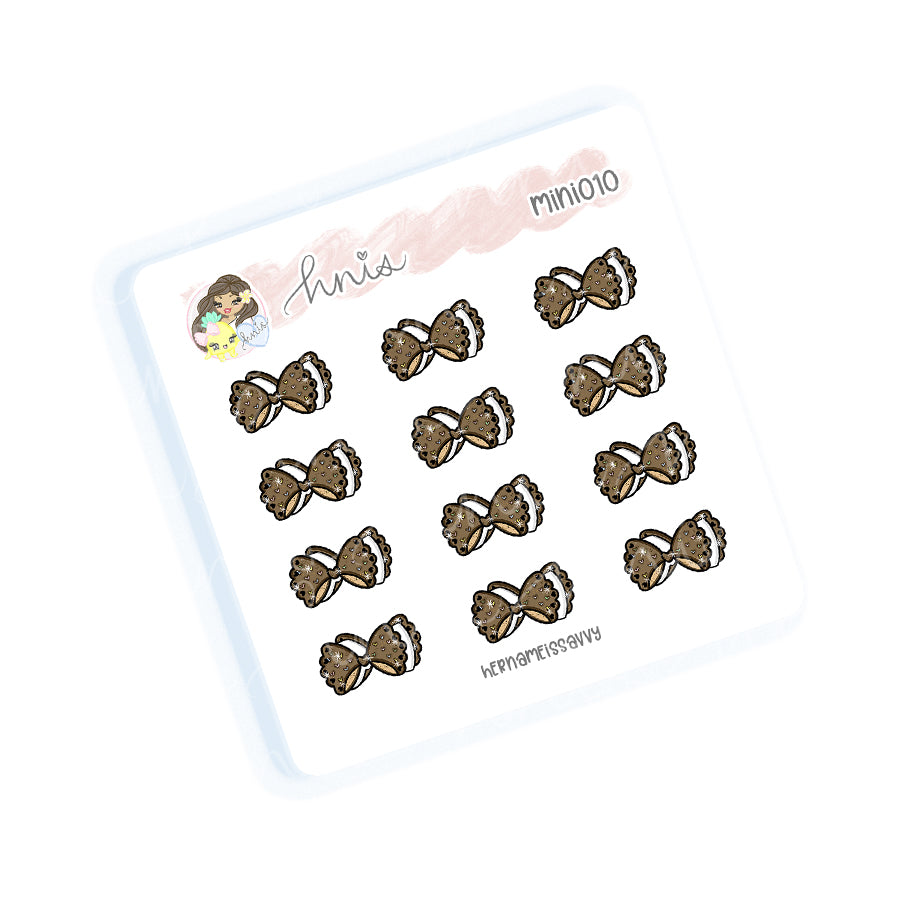 MINI010 - HNIS Icecream Bow Sticker Sheet