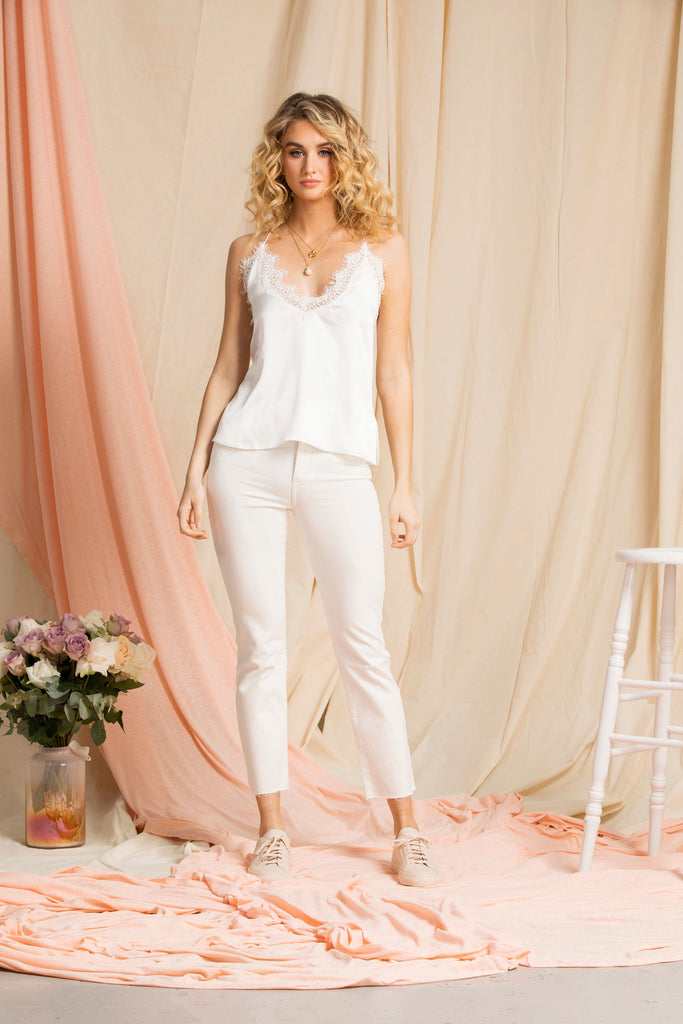 """The Sinead"" - Silk Cami (White)"