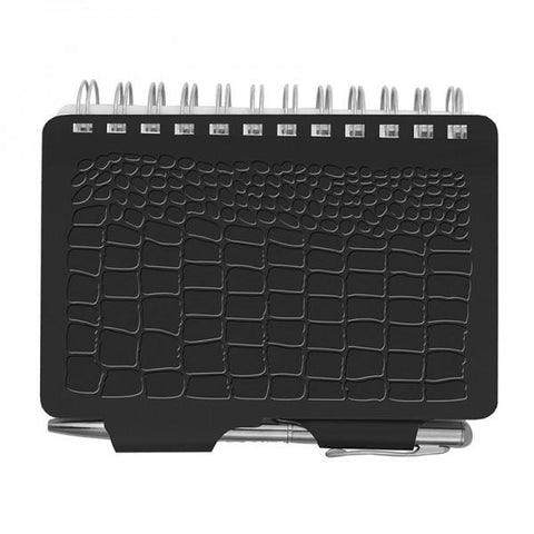 Password Book - Croc - Black