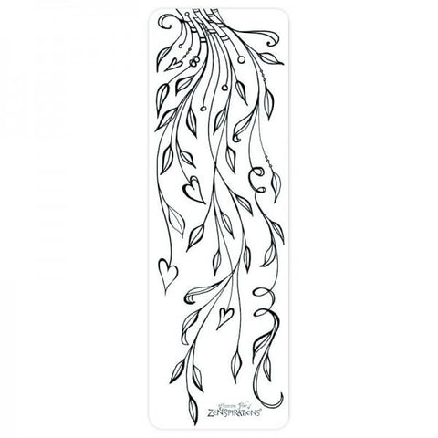 Coloring Bookmark - Leaves