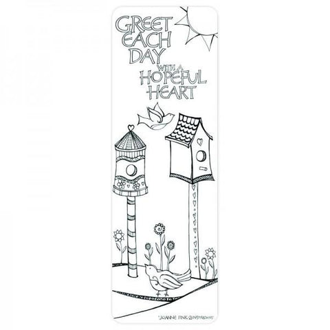 Coloring Bookmark - Birdhouse