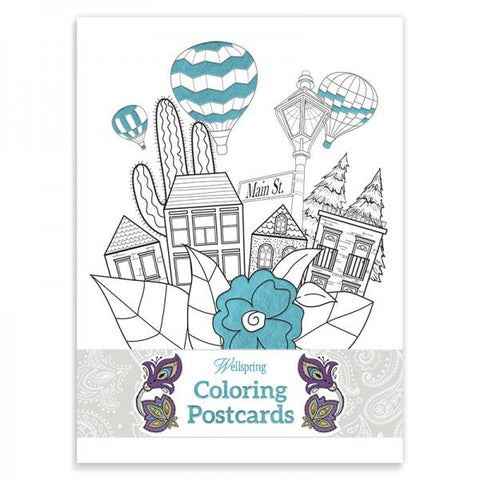 Coloring Postcard Book - Travel
