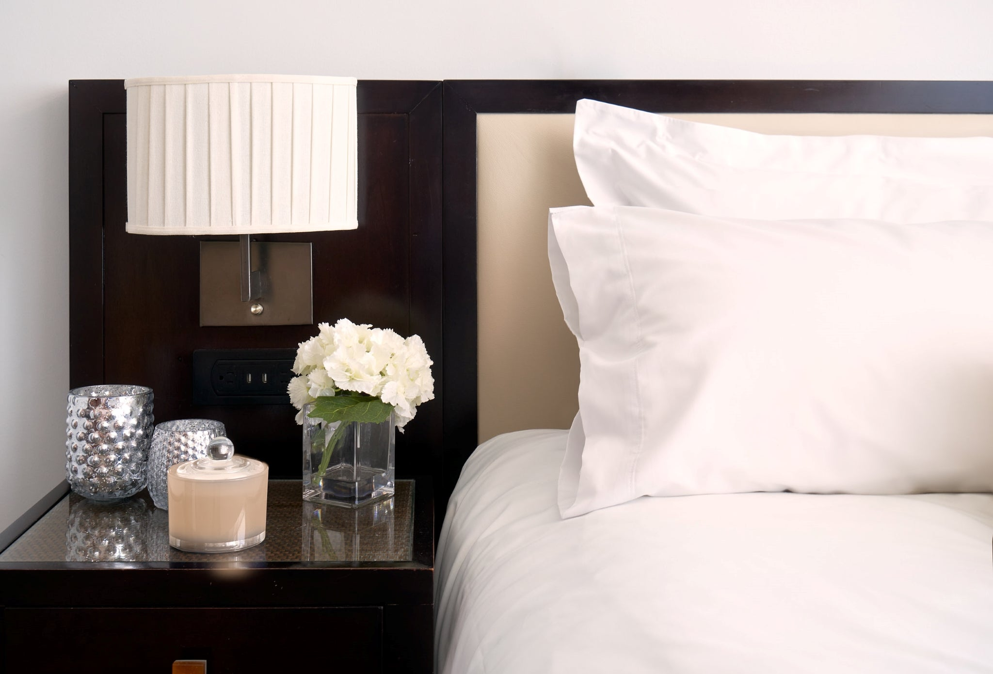 Bed made with Thomaston Mills American Luxury Sheets