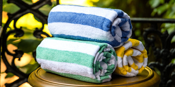 Thomaston Mills Island Stripe Pool Towels