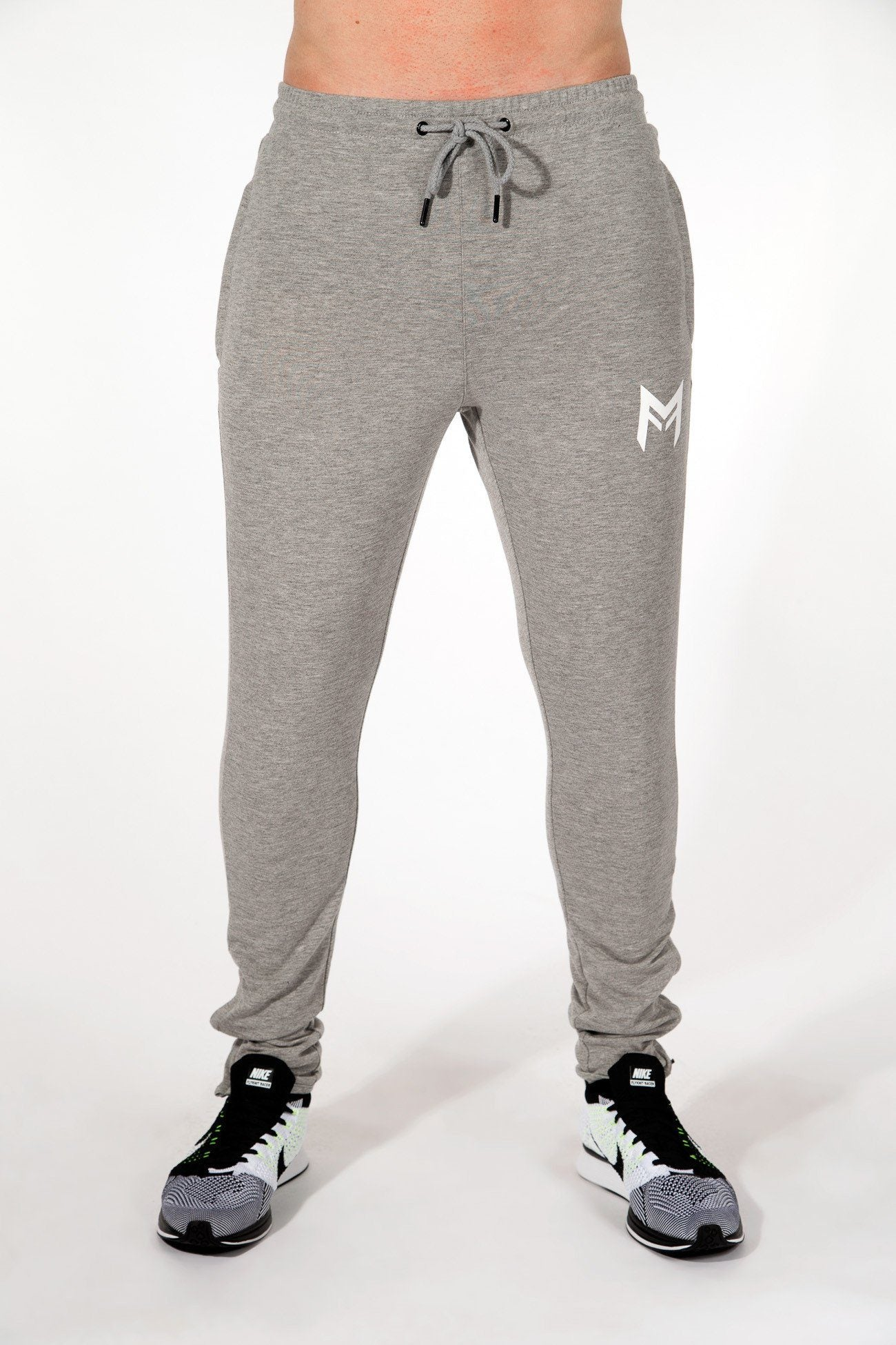 MFit Bottoms <br> Grey/White - Muscle Fitness Factory