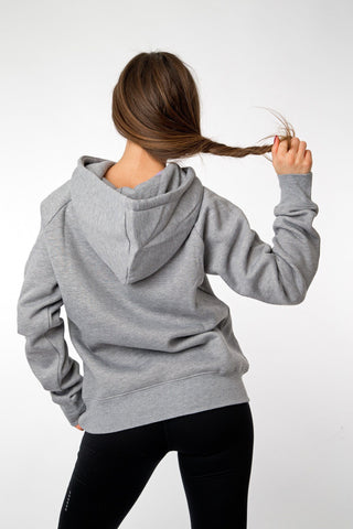 MFF Womens Hoodie <br> Grey/Dark Grey - Muscle Fitness Factory
