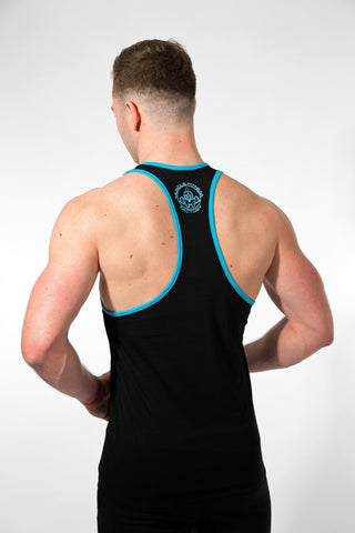 MFF Spartan Stringer <br> Black/Blue - Muscle Fitness Factory