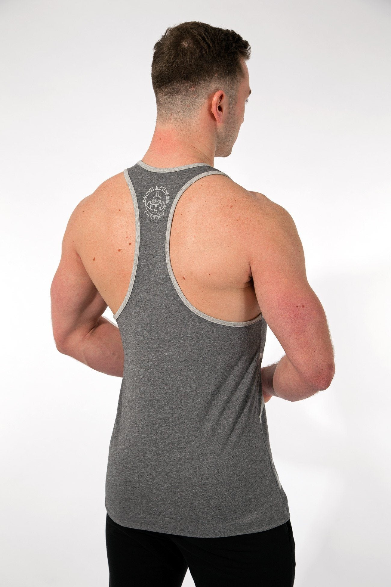 MFF Spartan Stringer <br> Heather Grey - Muscle Fitness Factory