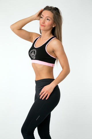 MFF Core Sports Bra <br> Black/Pink - Muscle Fitness Factory