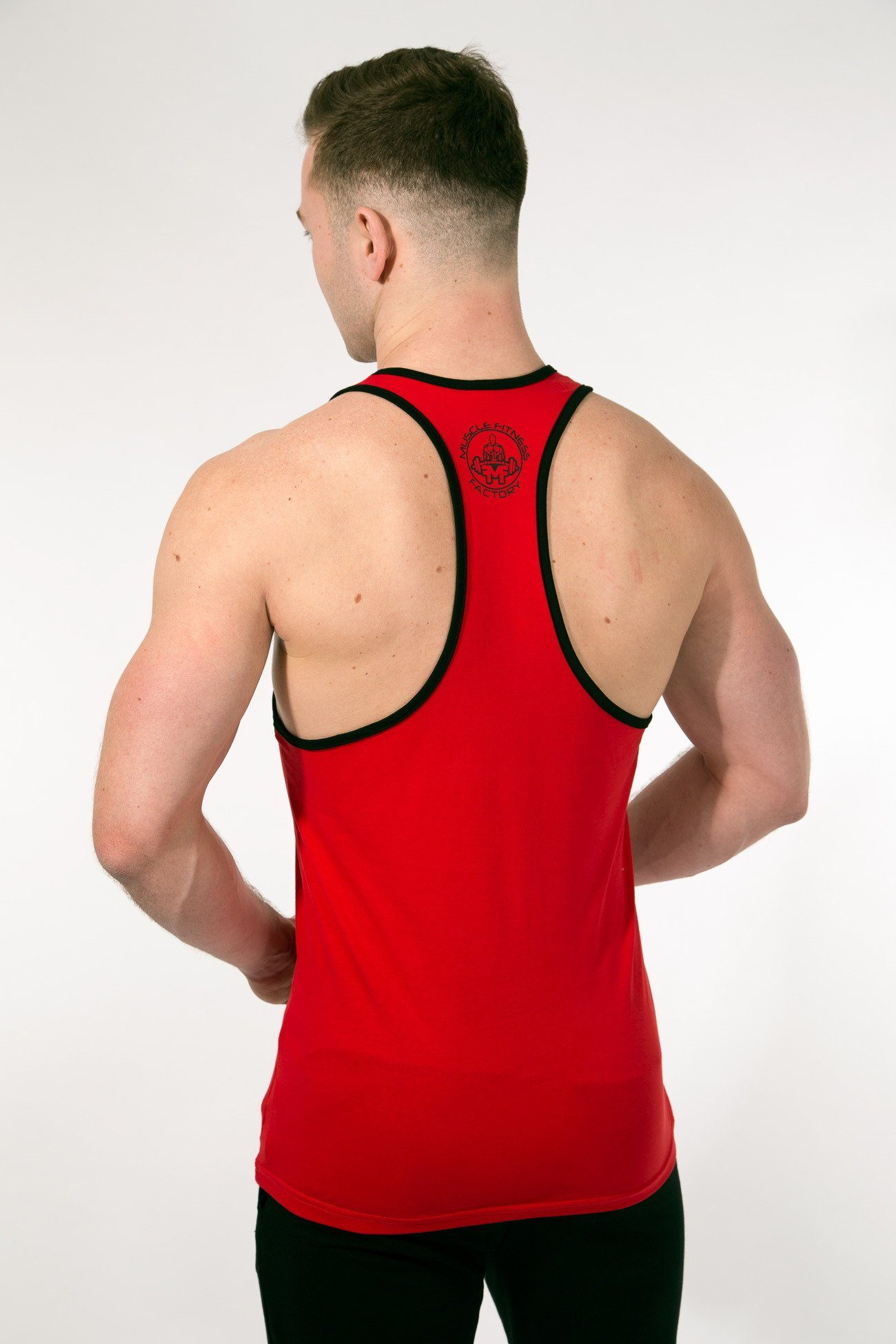 MFF Spartan Stringer <br> Red/Black - Muscle Fitness Factory