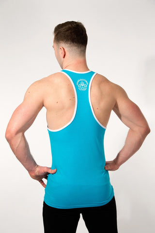 MFF Spartan Stringer <br> Blue/White - Muscle Fitness Factory