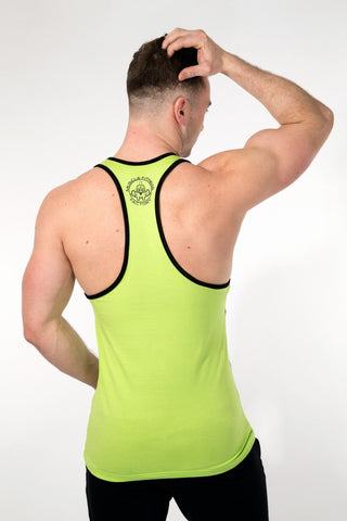 MFF Spartan Stringer <br> Lime/Black - Muscle Fitness Factory