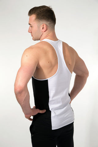 MFF 2Tone Stringer <br> Black/White - Muscle Fitness Factory