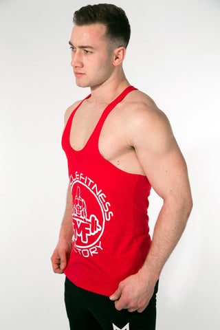 MFF Core Stringer <br> Scarlet Red - Muscle Fitness Factory