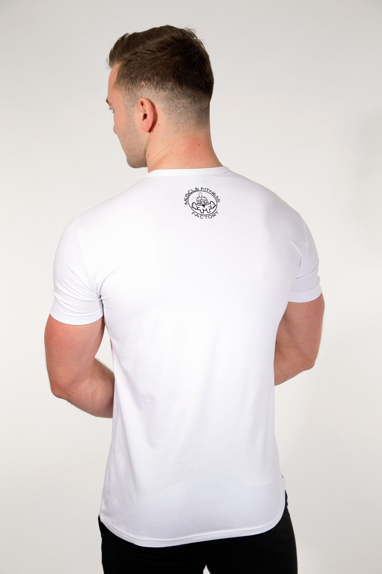 MFF Spartan T-Shirt <br> White/Black - Muscle Fitness Factory