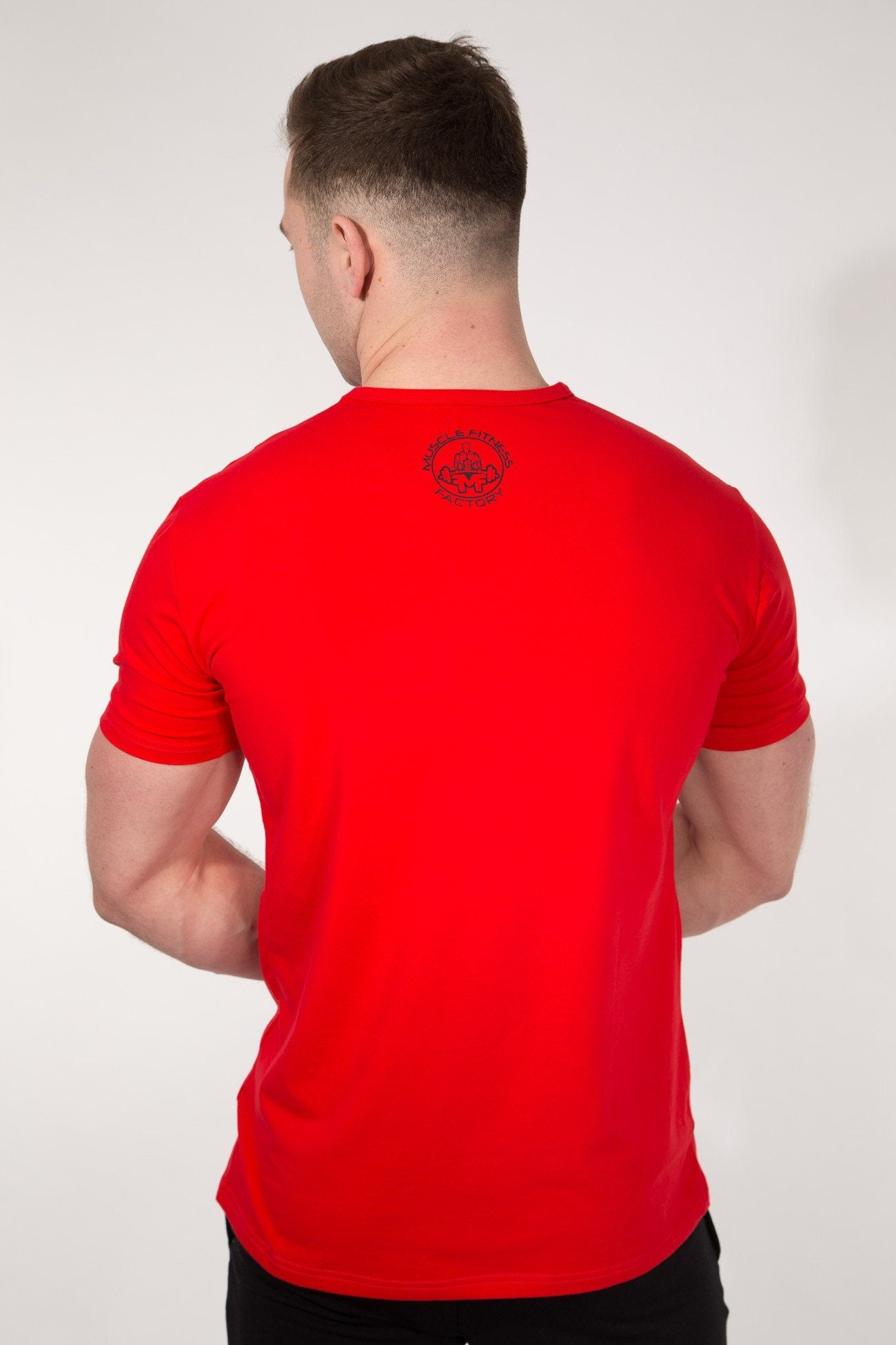 MFF Spartan T-Shirt <br> Red/Black - Muscle Fitness Factory