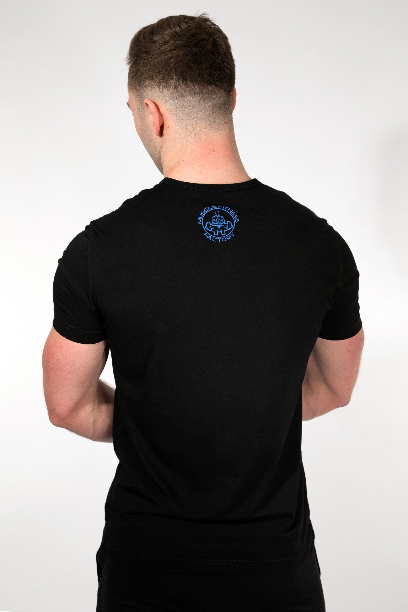 MFF Spartan T-Shirt <br> Black/Blue - Muscle Fitness Factory