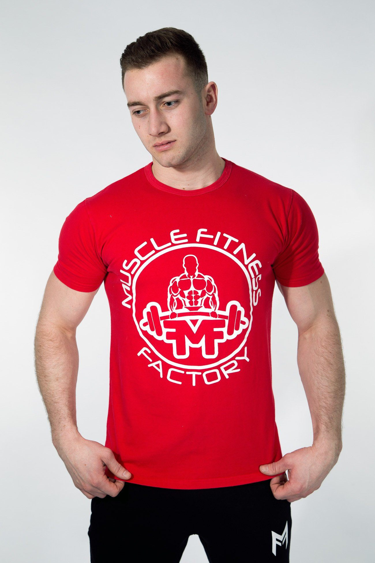MFF Core T-Shirt <br> Scarlet Red - Muscle Fitness Factory
