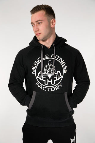 MFF Core Hoodie <br> Black/Dark Grey - Muscle Fitness Factory
