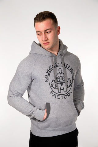 MFF Core Hoodie <br> Grey/Dark Grey - Muscle Fitness Factory