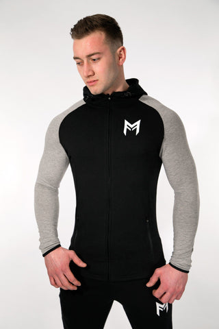 MFit Hoodie <br> Black/Grey - Muscle Fitness Factory