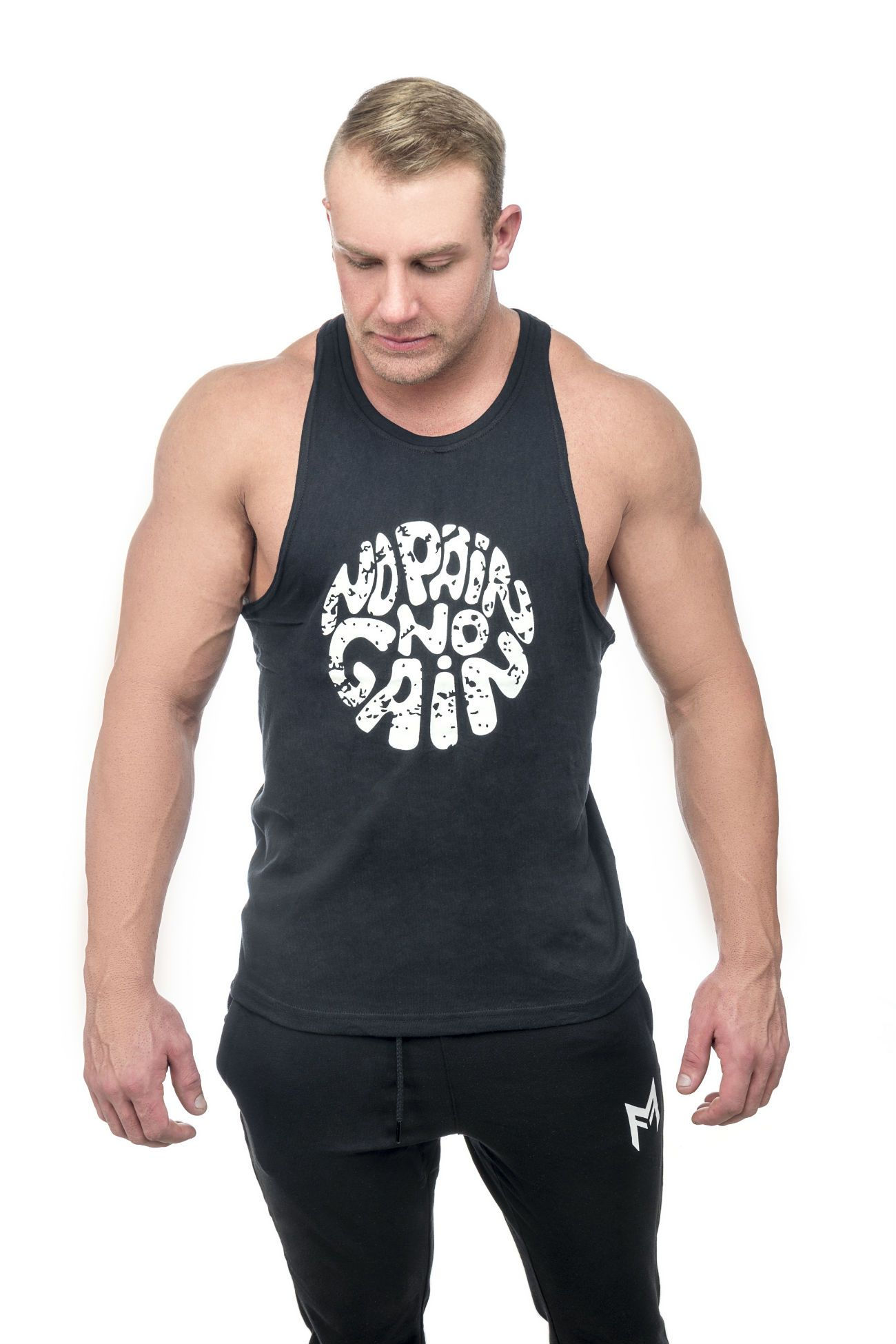 No Pain Tank Top<br>Black - Muscle Fitness Factory