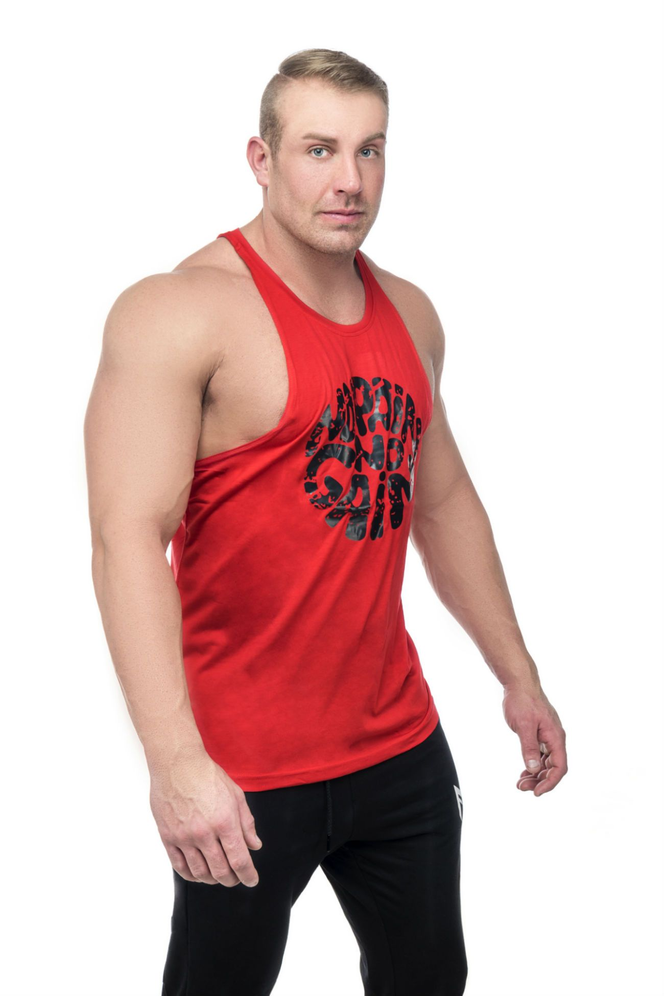 No Pain Tank Top<br>Red - Muscle Fitness Factory