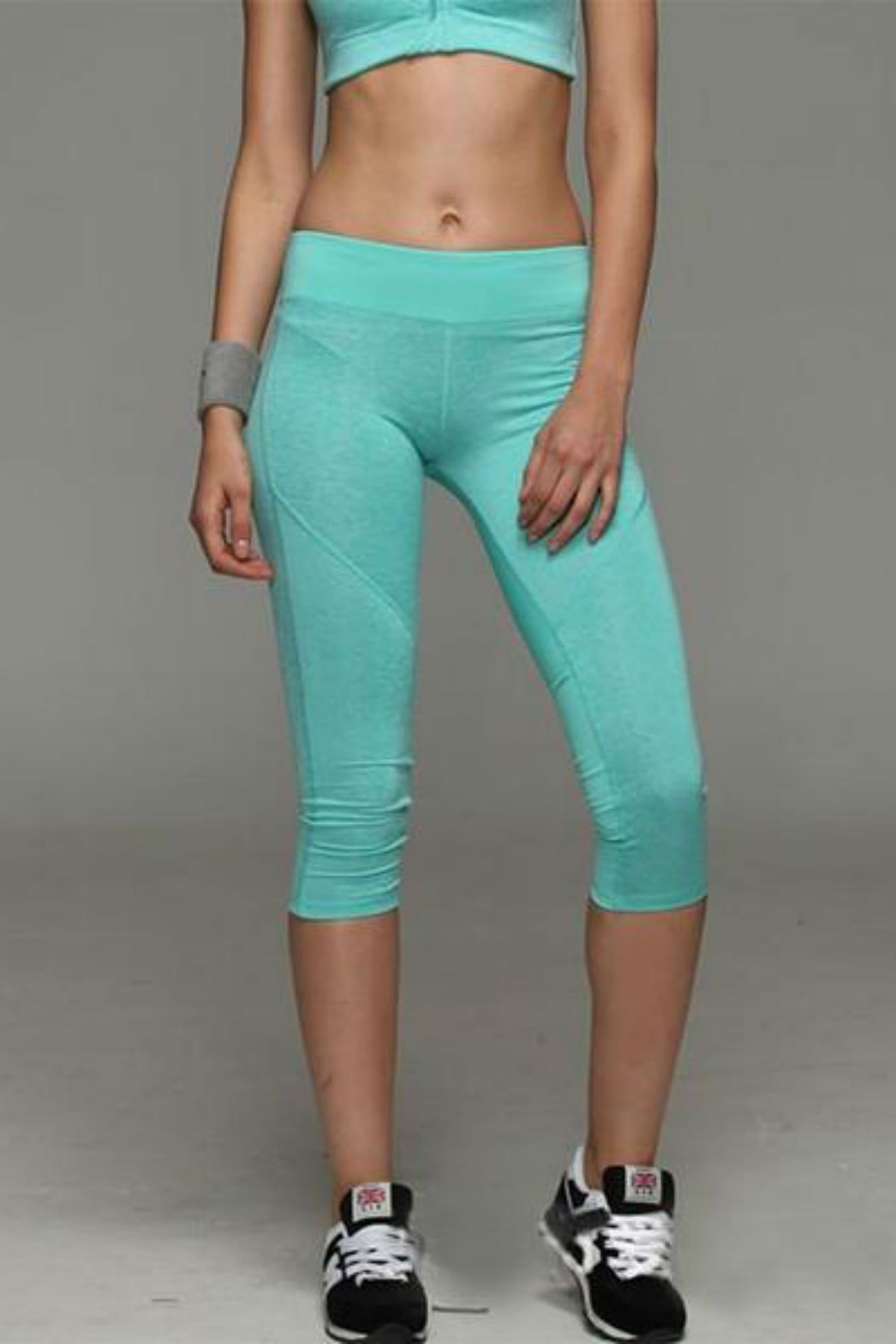 Allure Two Tone Pocket Leggings <br> Green - Muscle Fitness Factory
