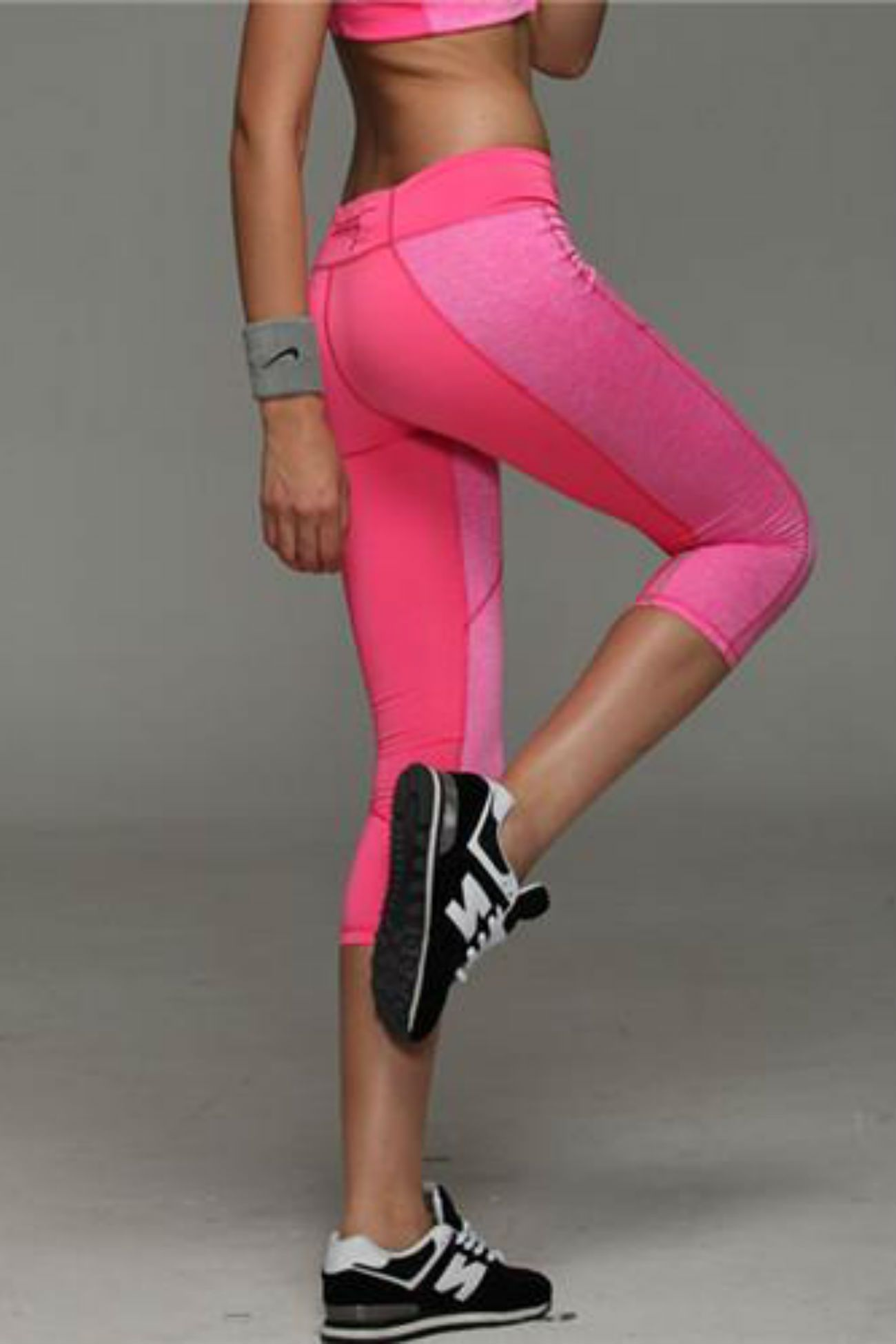 Allure Two Tone Pocket Leggings <br> Pink - Muscle Fitness Factory