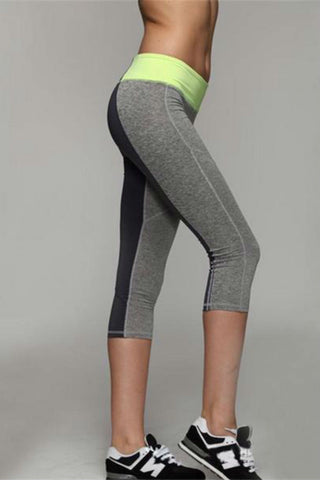 Allure Two Tone Pocket Leggings <br> Yellow - Muscle Fitness Factory