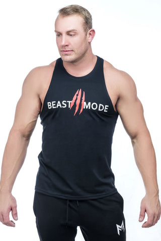 Beast Mode Stringer <br>Black - Muscle Fitness Factory
