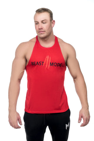 Beast Mode Stringer <br>Red - Muscle Fitness Factory